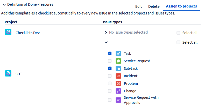 Multiple Checklists for Jira - select_projects_types3