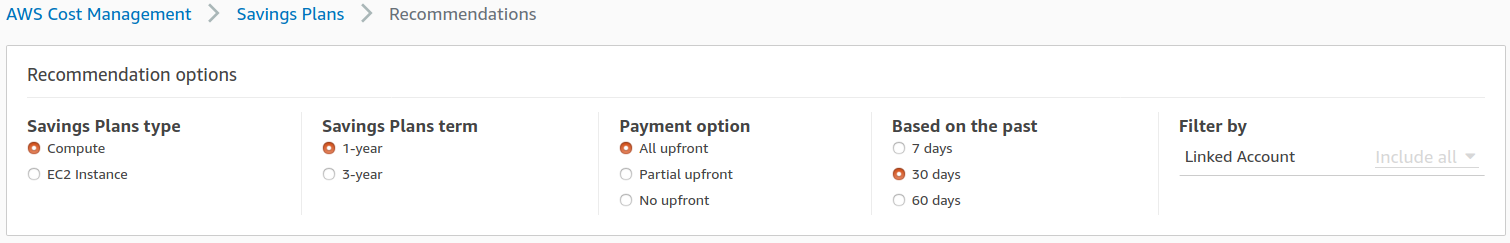 AWS Cost Management- Recommendations