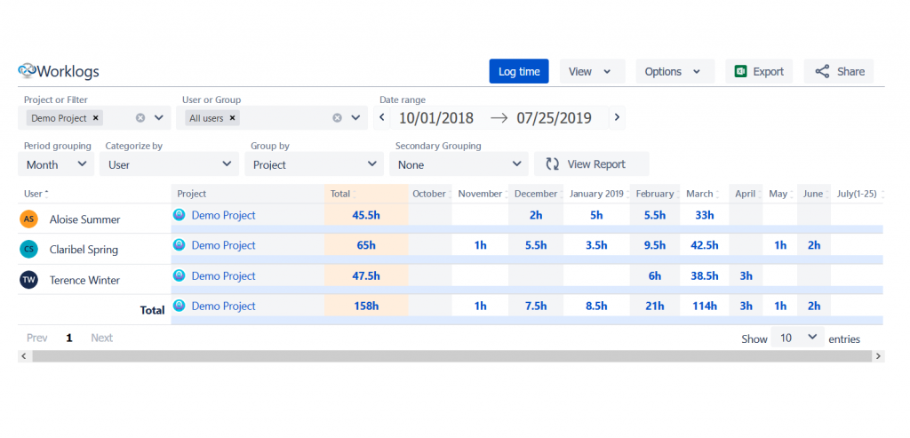 How-to-log-time-with-Worklogs-Time-Reports-for-Jira-1