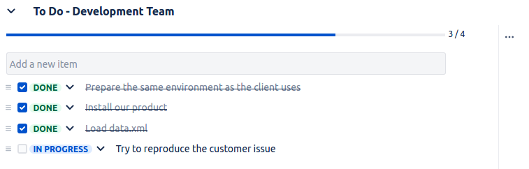 Multiple Checklists for Jira - Add a ToDo