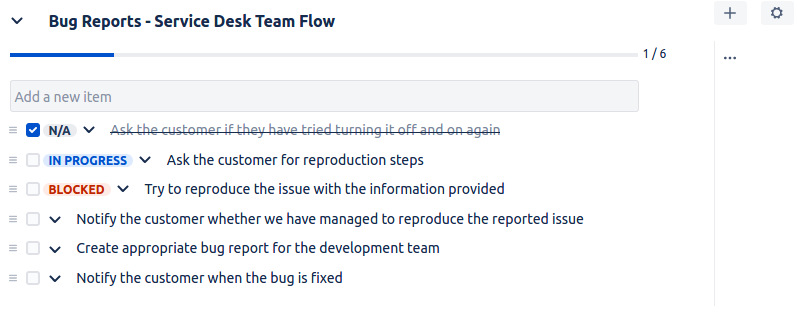 Multiple Checklists for Jira - Bug reports