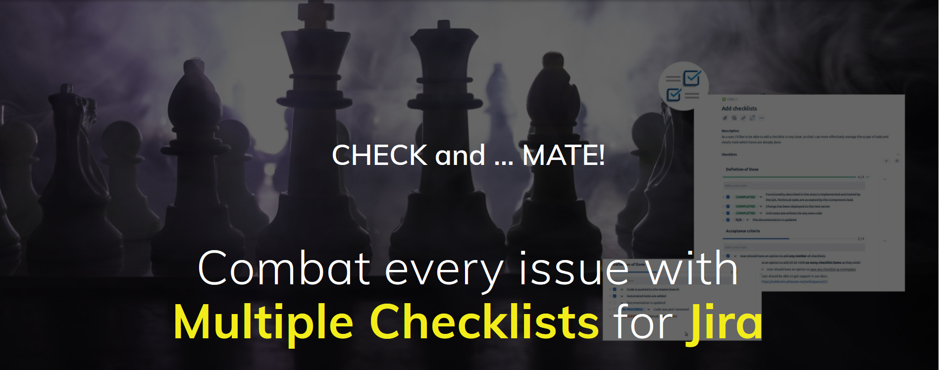 Multiple Checklists for Jira- baner new