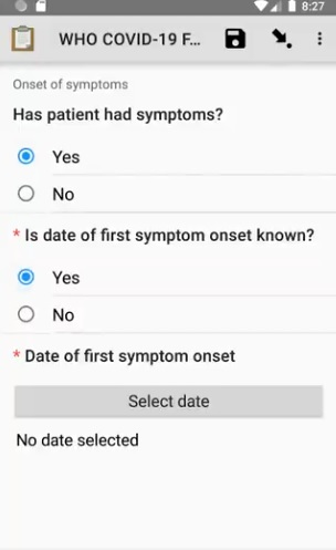 ODK Collect- symptoms